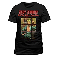 David Bowie Ziggy Stardust Spiders from Mars Official Tee T-Shirt Mens Unisex