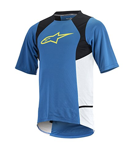 Manches Bright Drop À Courtes Blue acid Yellow 2 Pour Alpinestars nbsp;maillot Homme Tw4YTZ1