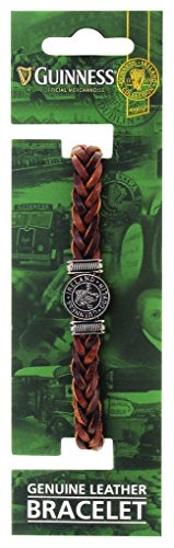 Guinness Genuine Brown Leather Harp Bracelet