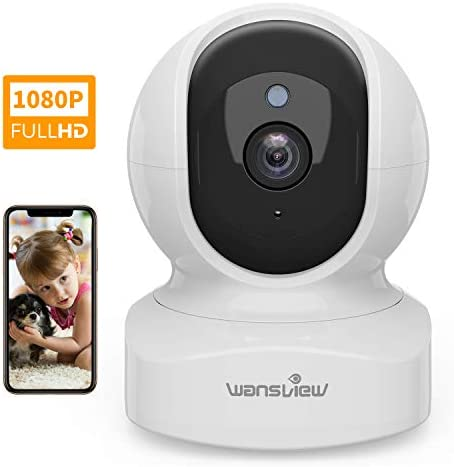 Home Security Camera, Baby Camera,1080P HD Wansview Wireless WiFi Camera for Pet Nanny, Free Motion Alerts, 2 Way Audio, Night Vision, Compatible with Alexa Echo Show, with TF Card Slot and Cloud