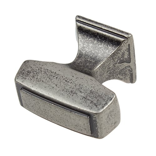 GlideRite Hardware 87390-WN-100 1.125 inch Rectangle Deco Weathered Nickel Cabinet Knobs 100 Pack by GlideRite Hardware (Image #2)