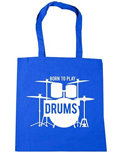 42cm Tote x38cm to Drums Bag 10 HippoWarehouse Play Born litres Blue Cornflower Beach Shopping Gym xq1npHz