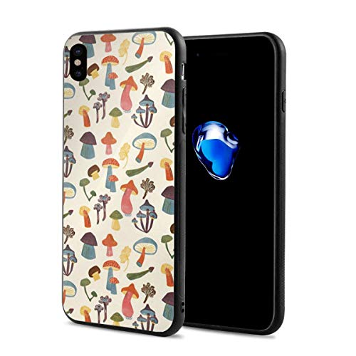 Yiyingzhang iPhone X Case, iPhone Xs Case, Colorful Mushroom Applicable Full Body Protective Shockproof Sandproof Dirtproof Phone Cases for iPhone X/XS