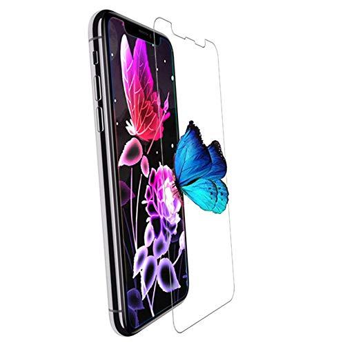 逃す回答排泄するiPhone X フィルム,EKKSI 旭硝子製 iPhone X ガラスフィルム ドイツ先端技術 極薄0.2mm 気泡ゼロ 99%高透過率 硬度9H 指紋防止