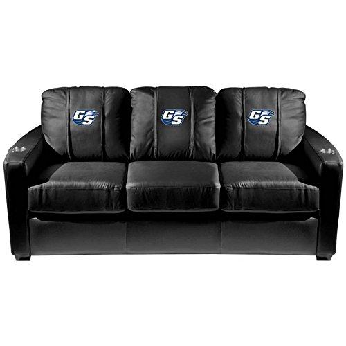 XZipit College Silver Sofa with Georgia Southern GS Eagles Logo Panel, Black