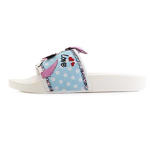 Irregular Choice Womens Dogi Devotion Pink Blue Sliders Sandals Size 5 pGlkruFy