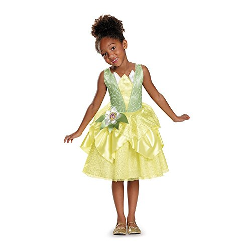[Disguise Tiana Classic Disney Princess & The Frog Costume, X-Small/3T-4T, One Color] (Princess Tiana Disney Costume)