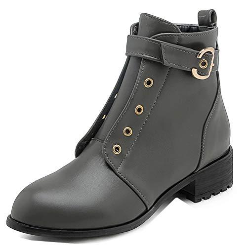Talon Mode Bouche Boots Moyen Femme Vert Aisun Bottines 4cm Low Ronde 5XnqER8x