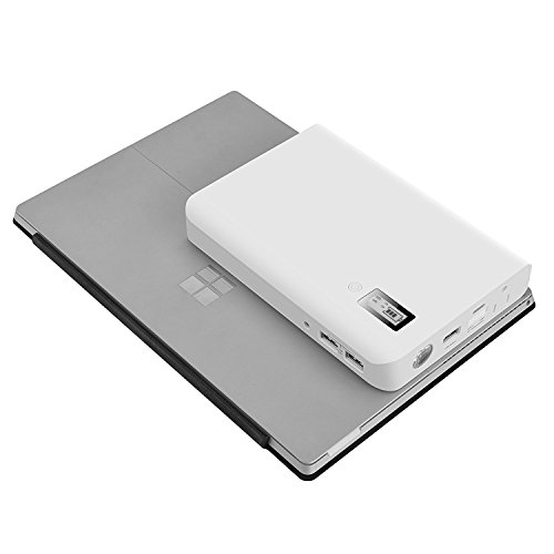 AIVANT 24000mAh Power Bank, Ultra-High Capacity External Battery Packs Portable Charger W/ AC Outlet and 3 USB Ports Fast Charging 5.4A Max Output for Smartphone Tablet and More(White) by AIVANT (Image #5)
