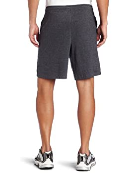 Russell Athletic Men's Cotton Baseline Short With Pockets, Black Heather, Large 1