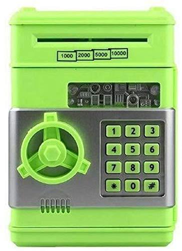 Online general store Kawachi Creative Voice ATM Automatic roll Money Piggy Bank Smart Cash Machine Savings Money Box Password Lock Safe Cabinet (Green)