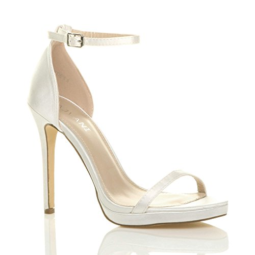 Women Ajvani Satin Barely Heel High Ivory Sandals There Size addq6rn