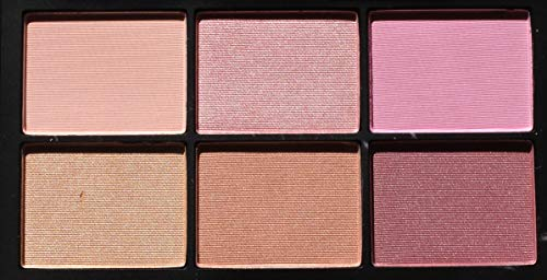 NARS NARSissist Unfiltered II Limited Edition Blush Palette for Cheeks - UK Version - .12 ounces x 6 Includes Hot Sand, Conquest, Undefeated, Power Play, Candid and Fame