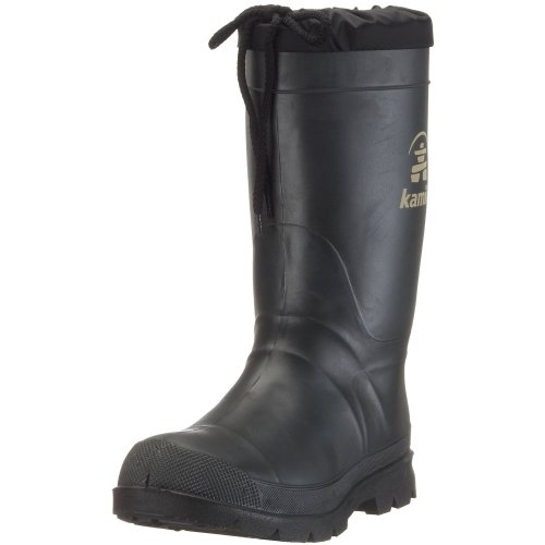 Kamik Hunter B20112-1 - Botas de agua de caucho para hombre Negro