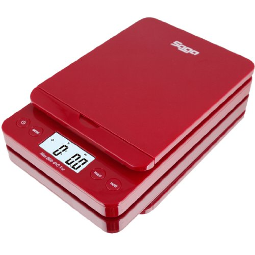 SAGA 0.1 oz. to 86 lb. Digital Postal Scale, Red