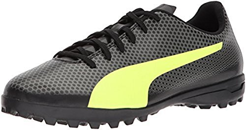PUMA Men's Spirit Turf Trainer Soccer Shoe, Black-Fizzy Yellow-Castor Gray, 11 M (Football Trainers Shoes)