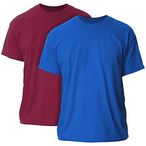 Gildan Men's Ultra Cotton Adult T-Shirt, - Cotton 2 Pack Mens