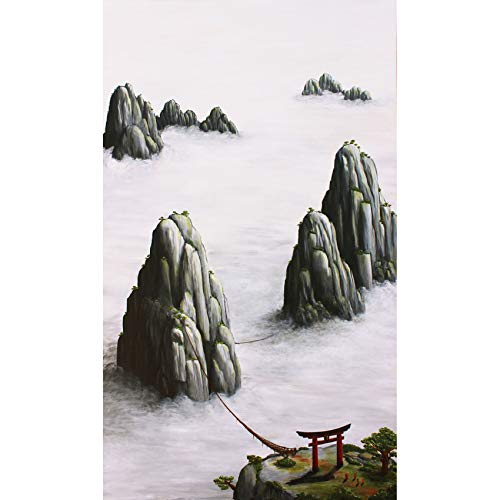 Fine Art Print of Modern Chinese Landscape Painting - Locally Sourced from Artist Andrew Lee; Easily Framed for Wall Hanging, Eastern Asian Room, Oriental Bathroom Décor (Faith 13 x 19) ()