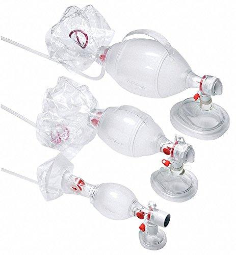 SEBS Material Mask: Adult Medium, Bag: Adult Bag Resuscitator Mask, Clear