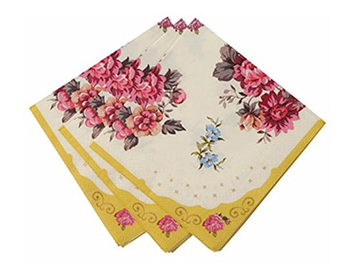 Talking Tables Truly Scrumptious Floral Napkins for a Tea Party or Birthday, Multicolor (30 - Floral Setting