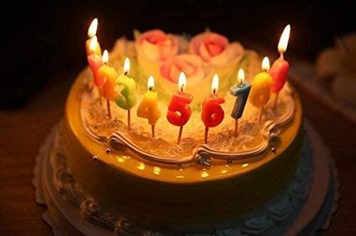 Hoyoo Velas de número, 0-9 Velas de cumpleaños decoración de la Torta de cumpleaños, Fiesta de cumpleaños de la Boda Decoraciones del Postre ...