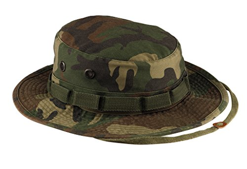 Rothco Vintage Boonie Hat, Woodland Camo, 7.5