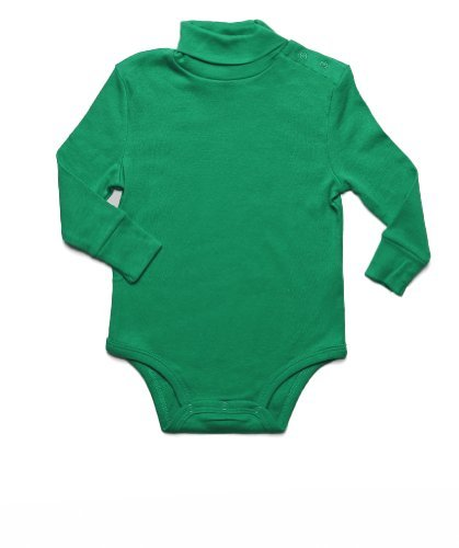 Leveret Solid Turtleneck Bodysuit 100% Cotton (18 Months,