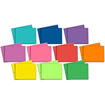40 Blank Note Cards - Multi-Color Pack - Matching Color Envelopes Included