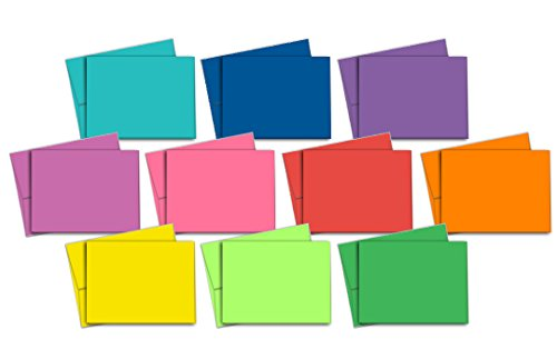 40 Blank Note Cards - Multi-Color Pack - Matching Color Envelopes Included by Note Card Cafe