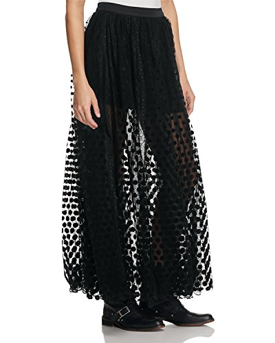Free People Women's Dreaming Of You Maxi Tutu Skirt (0, Black) by Free People