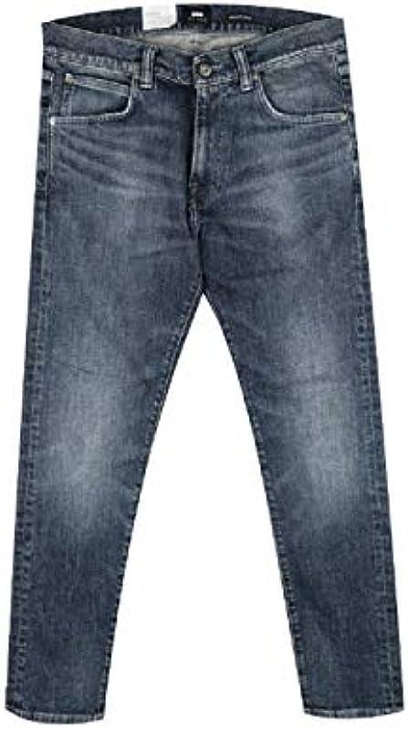 Edwin Jeans I027223 ED-85 Slim Tapared Drop Crotch Reoki Wash: Odzież