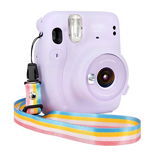 Elvam Camera Neck Shoulder Belt Strap for Men/Women Compatible with Fujifilm Instax Mini 11/9/8/8+/7s/25/50/90/300/ Paloraid Instant Camera/DC/DSLR/SLR Etc Camera, (Rainbow)