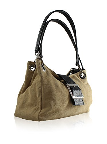 Olivia Mei Handle Shoulder Bag Mud