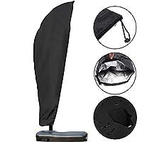 GEMITTO Housse de Protection Diamètre de Parasol 2-4 M, Premium pour Parasol Déporté 210D Oxford 280x46x81x30cm Imperméable Résistant à UV Intempéries avec Sac de Rangement