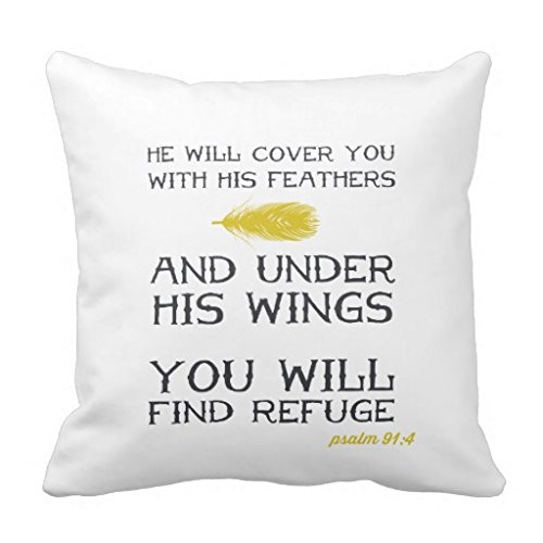 Psalm Throw - Home Decor Pillow Cover Psalm 914 Inspirational Bible Verse Throw Pillow Case for 22x22 inches