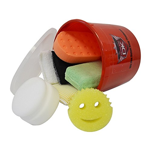 Detail King Bucket of Various Applicators & Sponges Value Kit (7)
