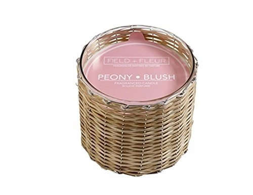 Peony Blush Field43; Fleur Reed 2-Wick Handwoven 12 oz Scented Jar Candle