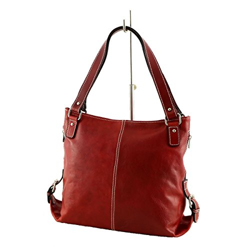 Borsa In Pelle Mega Tracolla Le Toscana Rosse Donne A Per 6Hf1nxCWg