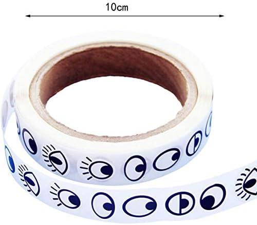Tivollyff 粘着アイステッカー子供の手作りDiyの黒と白の色眼球ステッカーアクティビティクリエイティブアイステッカー