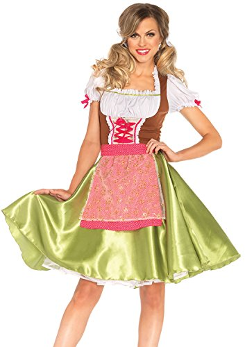 Leg Avenue Women's 2 Piece Darling Greta Costume, Multi, Large -