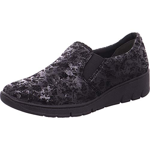 Speckl tessuto Fit Large Angus Black in Jana 41 Speckle Mocassino Modern 24701 Black wnCqxCA7O