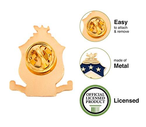 Desert Cactus Pi Kappa Phi Fraternity Crest Lapel Pin Enamel Greek Formal Wear Blazer Jacket Pi Kapp by Desert Cactus (Image #3)