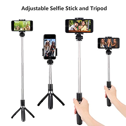 DOKRO Selfie Stick Tripod Stand Holder Extendable with Bluetooth Remote for iPhone x 8 6 7 plus Android Samsung Galaxy S7 S8 Blackberry Huawei by DOKRO (Image #3)