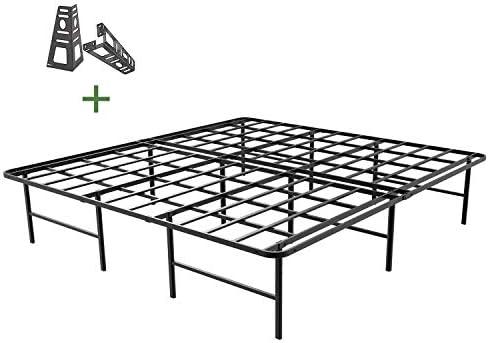 picture of 45MinST 16 Inch Platform Bed Frame/2 Brackets Included/Mattress