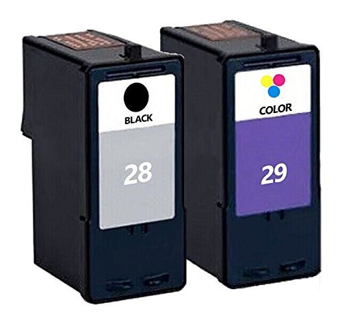 2PC Ink Cartridge for Lexmark 29 Color + 28 Black For Lexmar