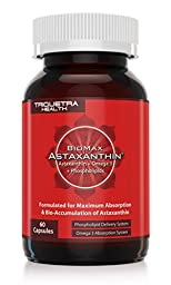 BioMax Astaxanthin: Scientifically Shown to be 370% More Effective Than Standard Astaxanthin - Combines Natural Astaxanthin Plus Omega 3 ALA & Phospholipids to Maximize Absorption & Bio-Accumulation