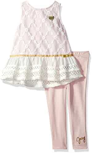 Juicy Couture Girls' Fashion Top and Legging Set