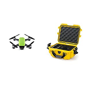 DJI Spark Meadow Green Fly More Combo w/ Yellow Nanuk Case
