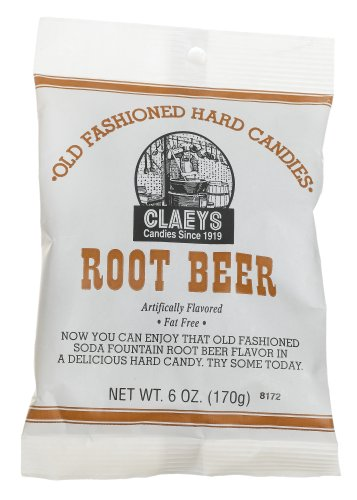 Claey's, Old Fashioned Hard Candy Root Beer, 6 oz]()