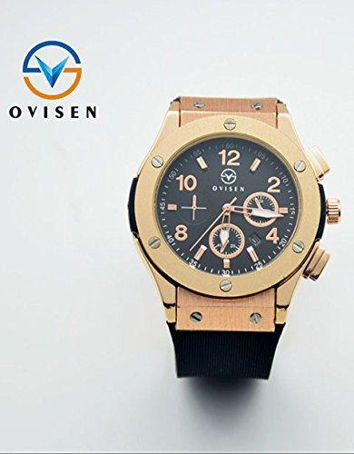 Luxury Man Big Bang Quartz Rose Gold Aaa Watches Black Dial Mens Watch Rubber Band Men Skelton Spotwatch Hub Cheap Band Military Watches